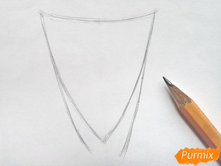 Рисуем букет тюльпанов цветными карандашами - шаг 1