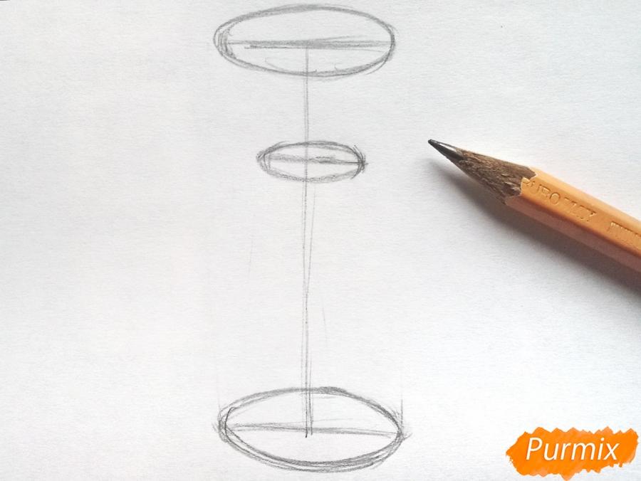 Рисуем тюльпаны в вазе - шаг 1