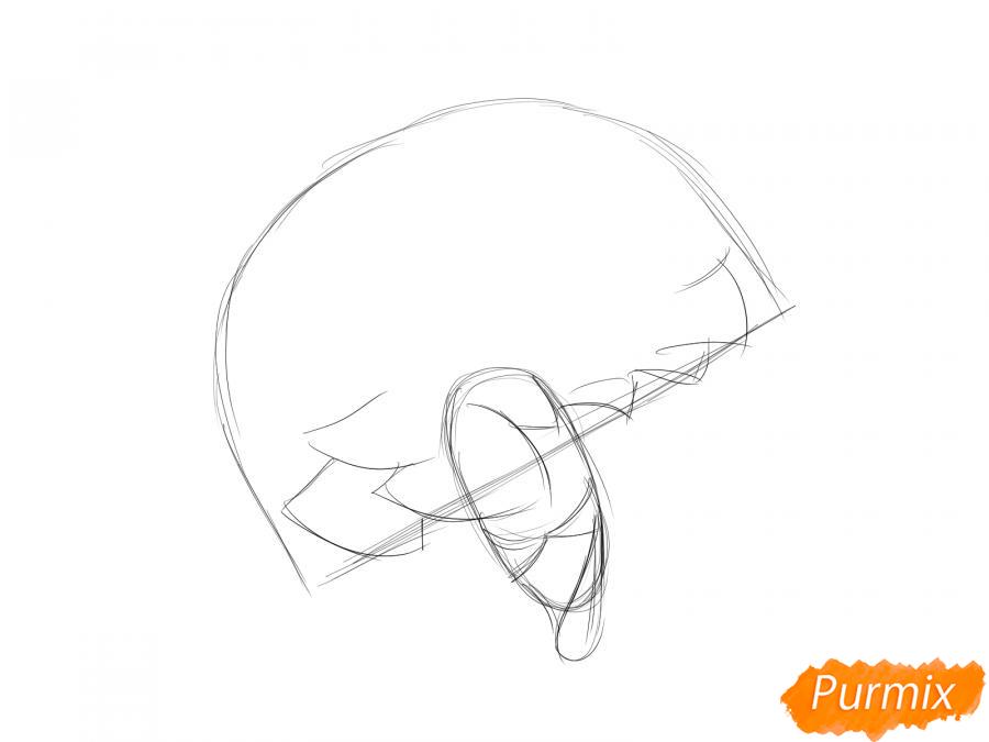 Рисуем бутон гвоздики - шаг 3