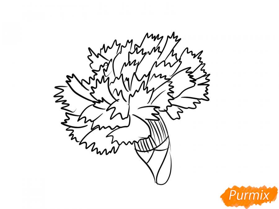 Рисуем бутон гвоздики - шаг 6