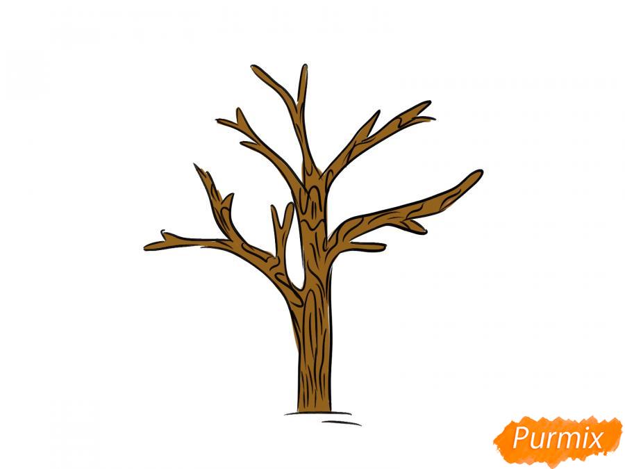 Рисуем дерево без листьев - шаг 5