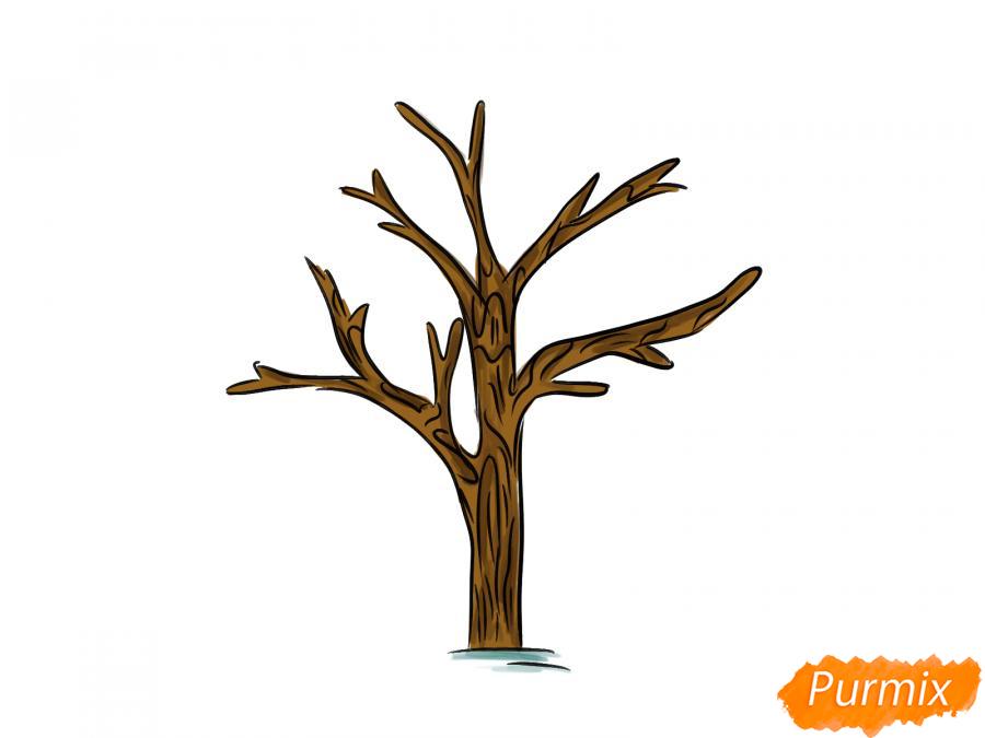 Рисуем дерево без листьев - шаг 6