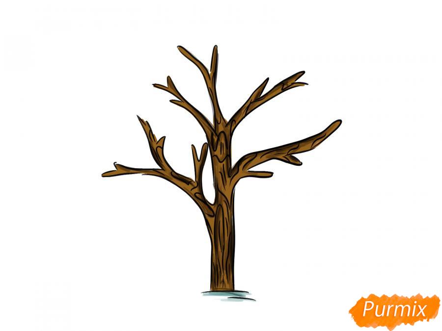 Рисуем дерево без листьев - шаг 7