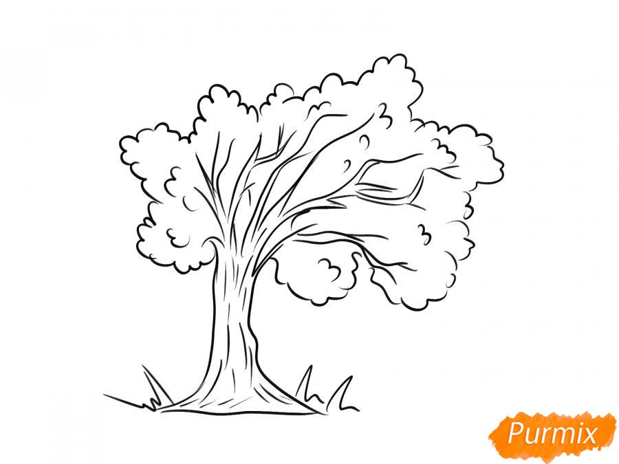 Рисуем дерево под ветром - шаг 5