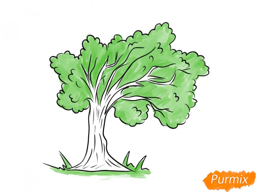 Рисуем дерево под ветром - шаг 6