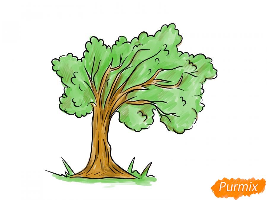 Рисуем дерево под ветром - шаг 7