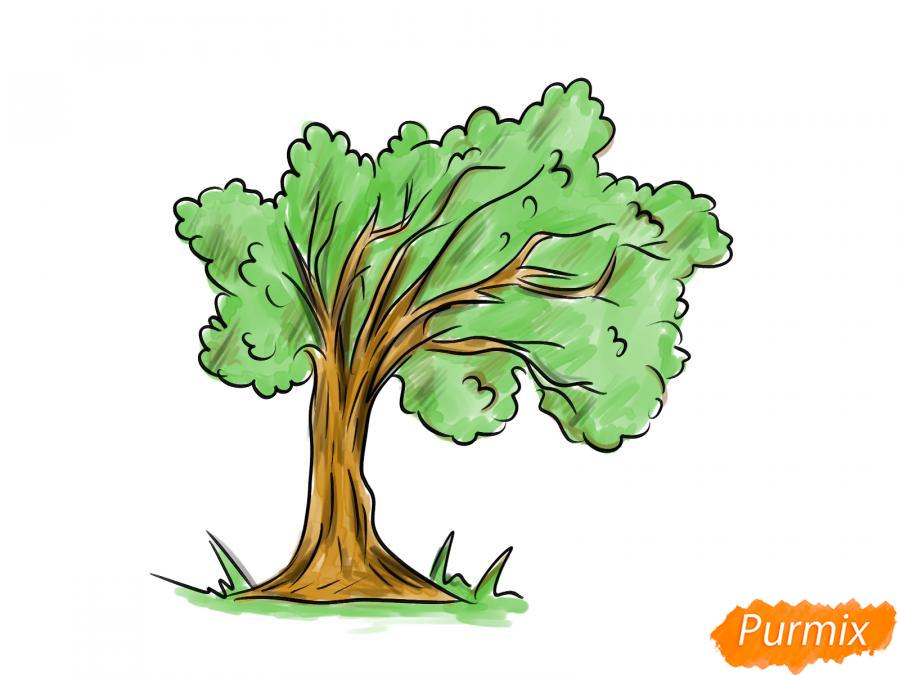 Рисуем дерево под ветром - шаг 8