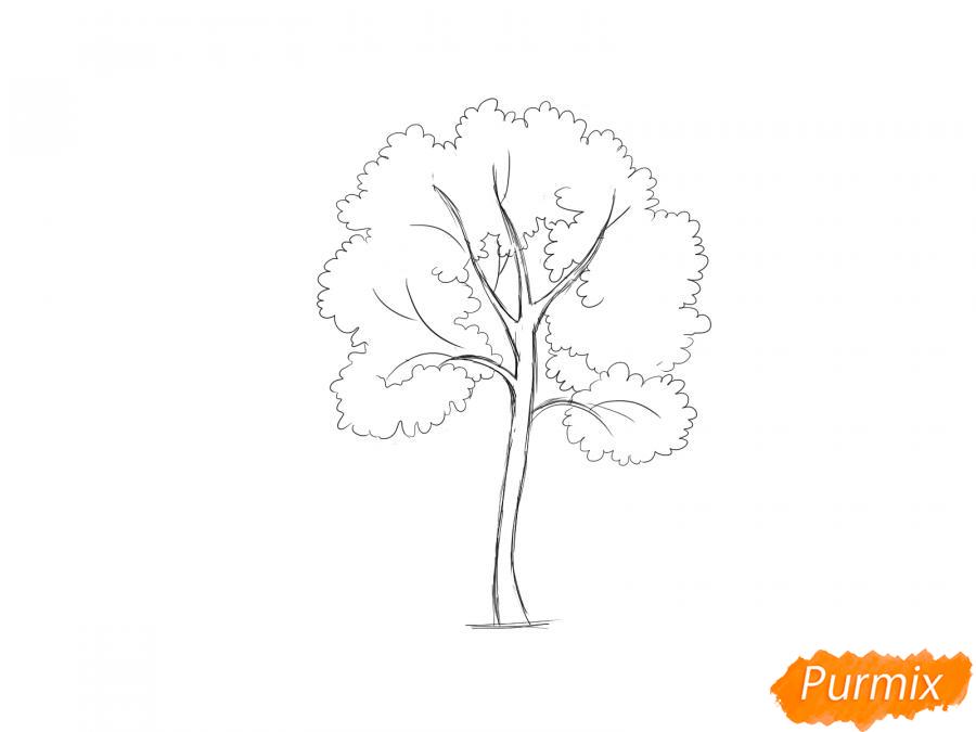 Рисуем дерево рябины - шаг 5