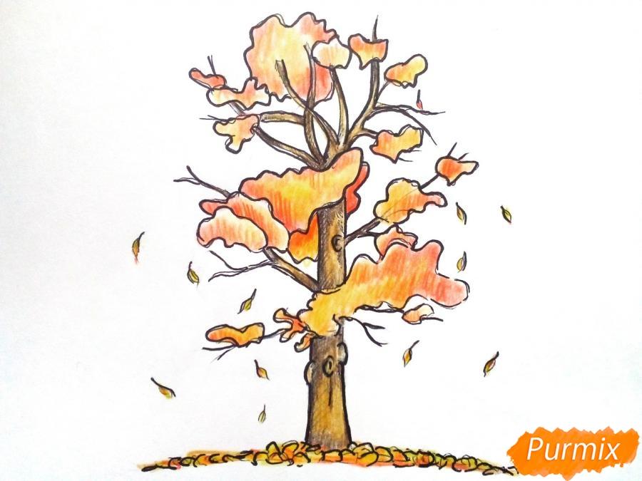 Рисуем дерево с падающими листьями - шаг 7