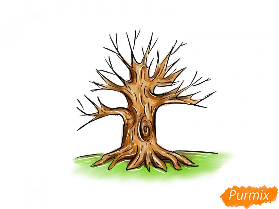 Рисуем дуб без листьев - шаг 9