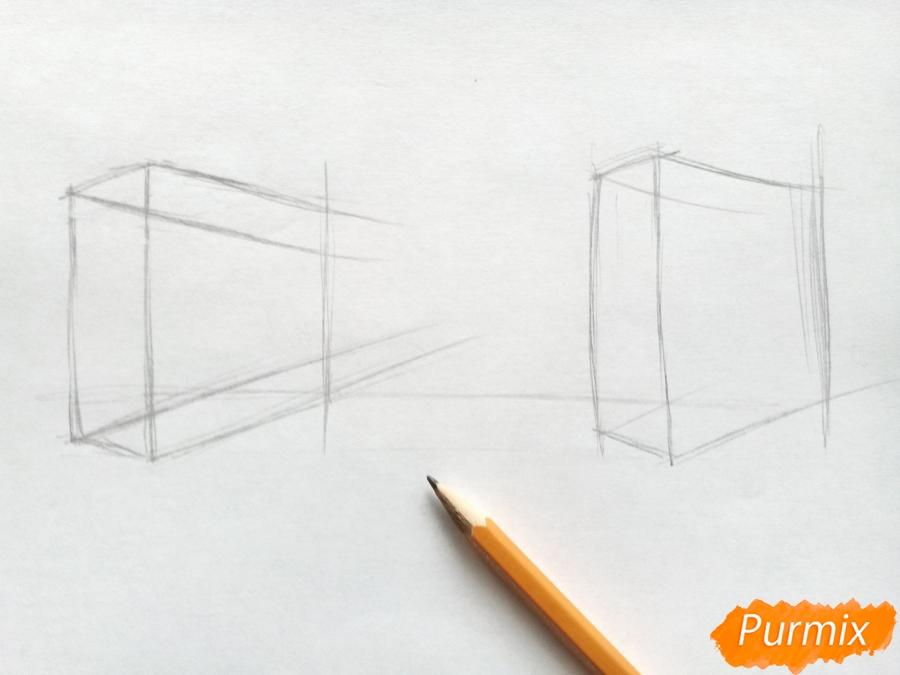 Рисуем городской парк карандашами - шаг 1