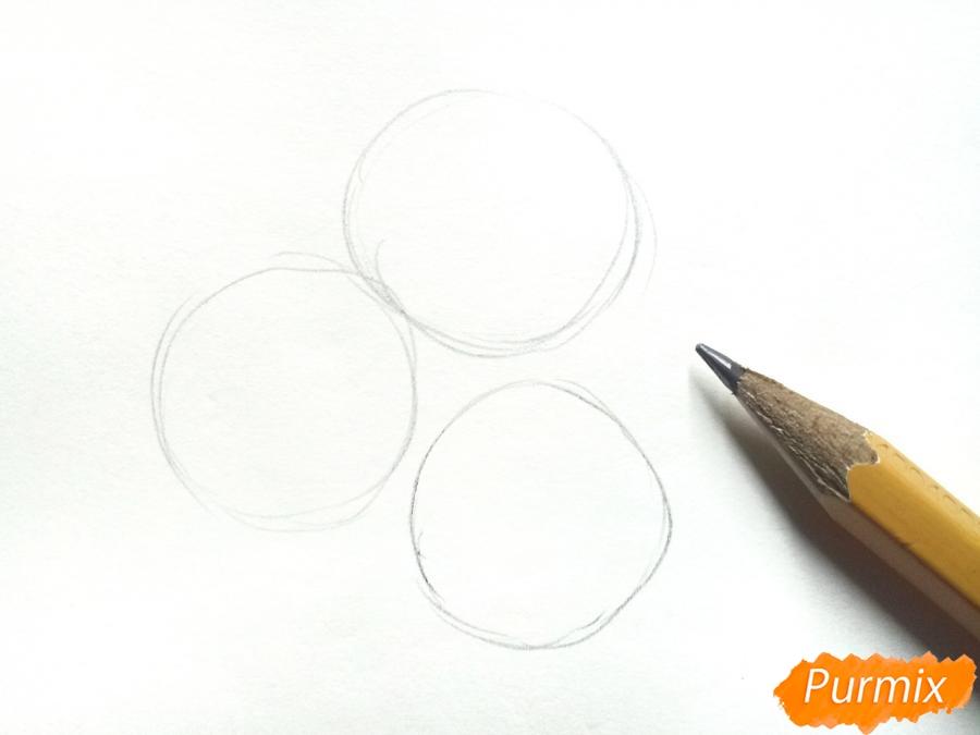 Рисуем букет гвоздик в вазе - шаг 1