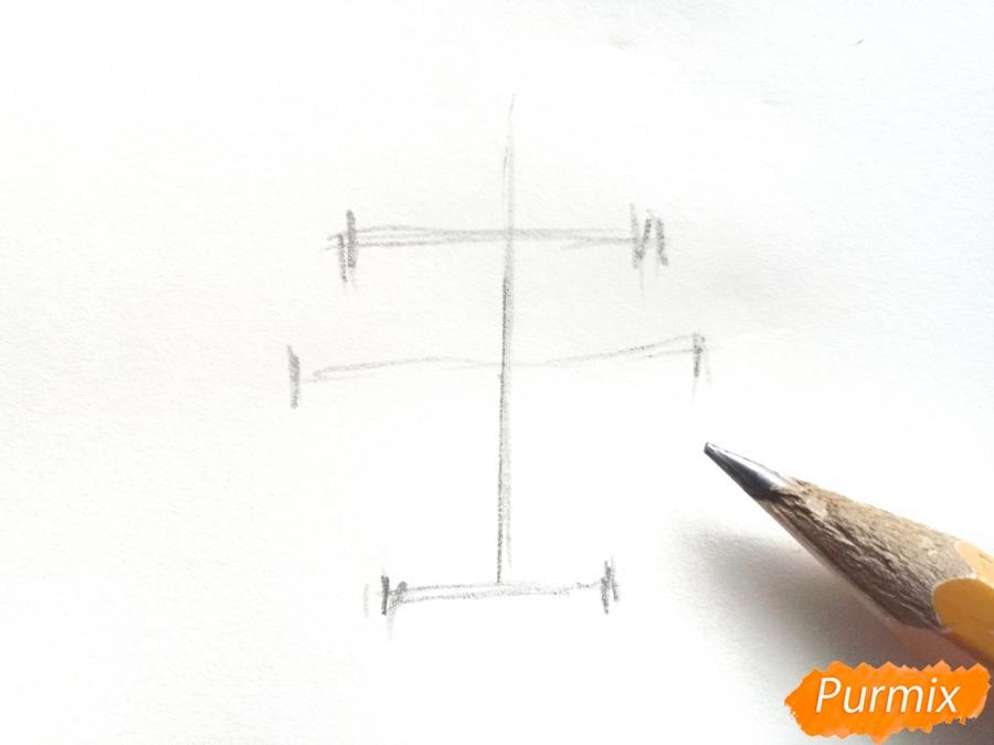 Рисуем ирисы в вазе - шаг 1