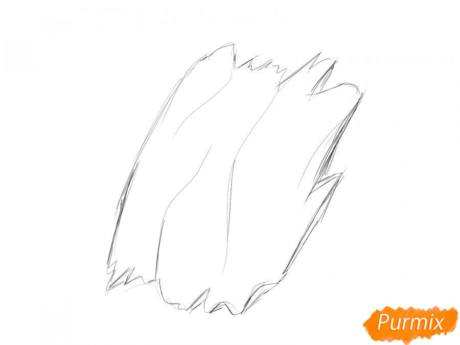 Рисуем кору дерева - шаг 2