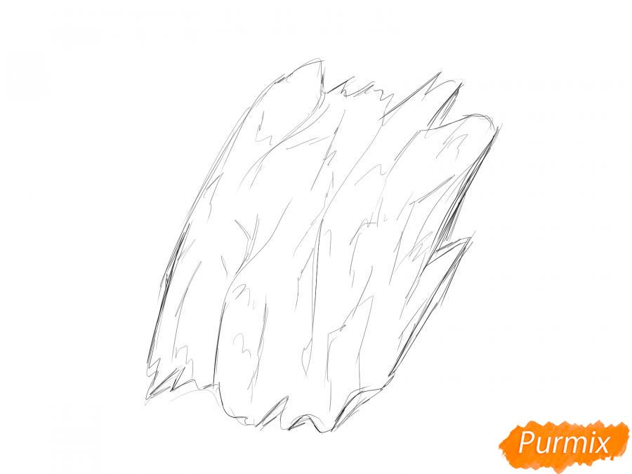 Рисуем кору дерева - шаг 3