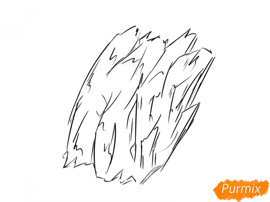 Рисуем кору дерева - шаг 4