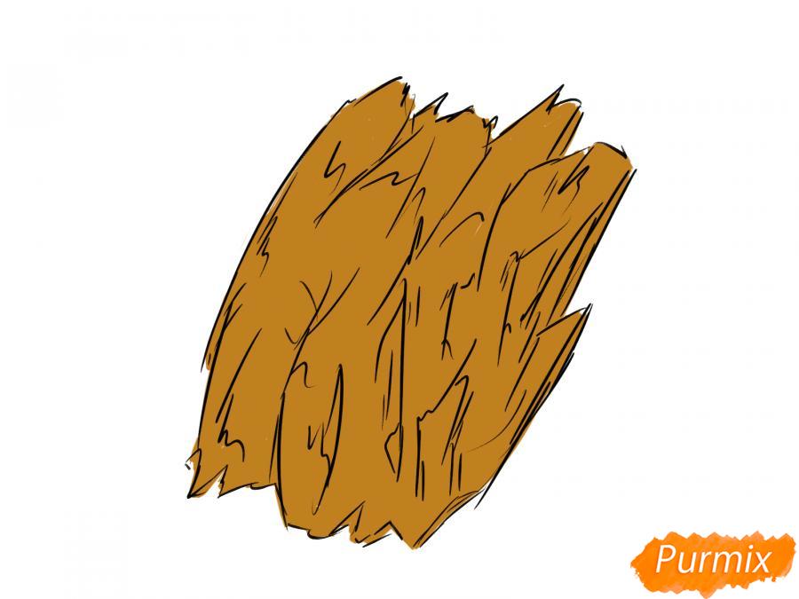 Рисуем кору дерева - шаг 5