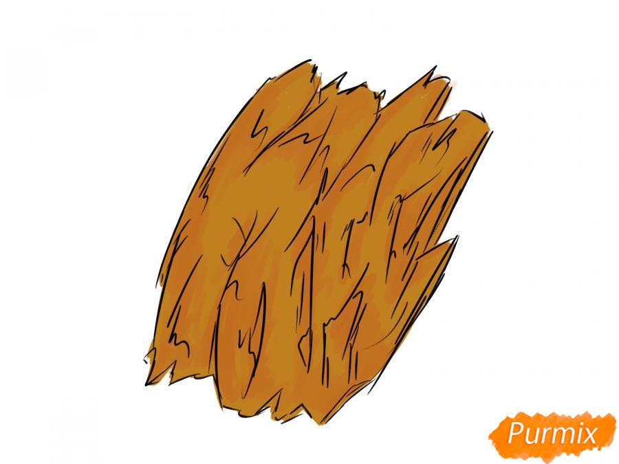 Рисуем кору дерева - шаг 6