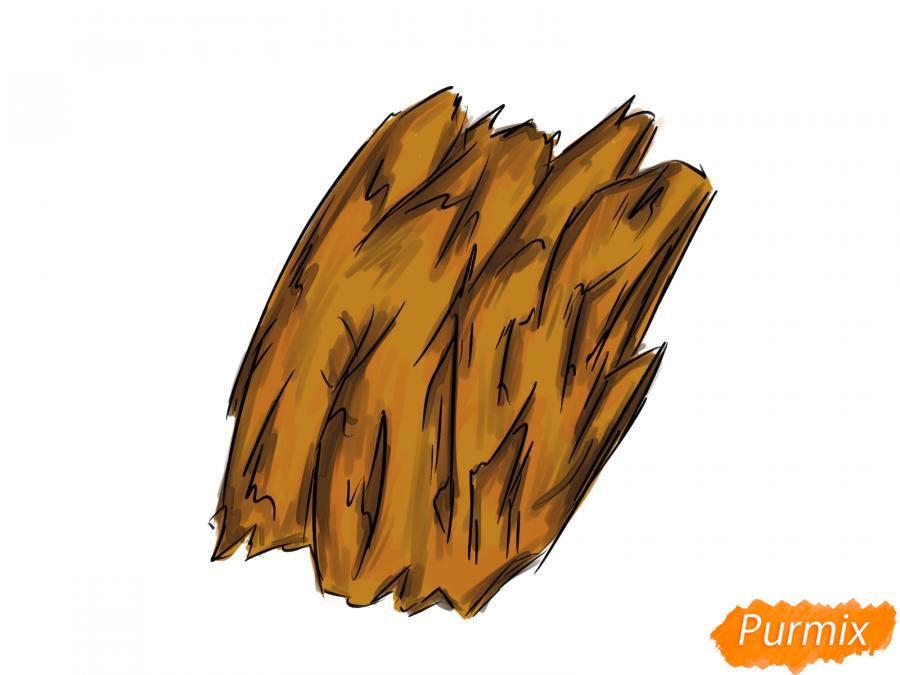 Рисуем кору дерева - шаг 7