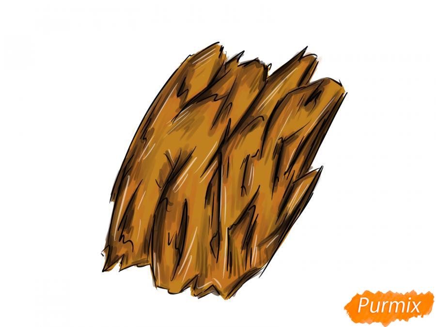 Рисуем кору дерева - шаг 8