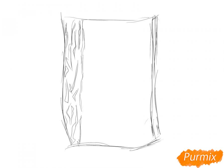 Рисуем кору дуба - шаг 2