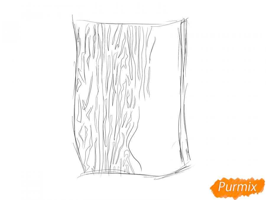 Рисуем кору дуба - шаг 3