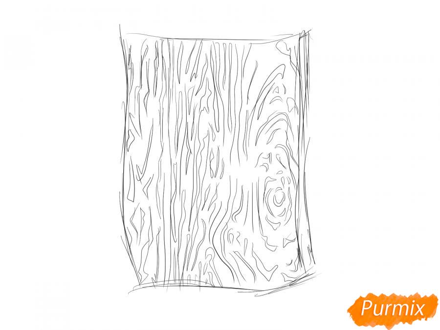 Рисуем кору дуба - шаг 4