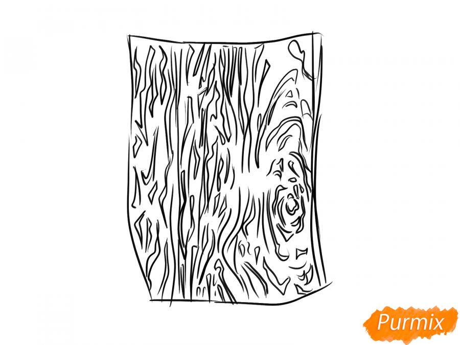 Рисуем кору дуба - шаг 5