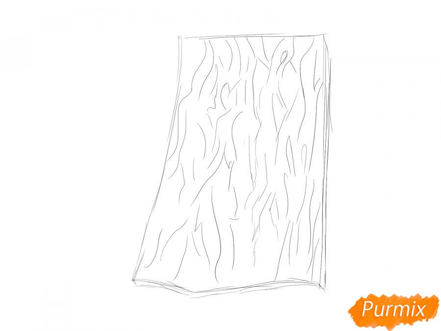 Рисуем кору ивы - шаг 2