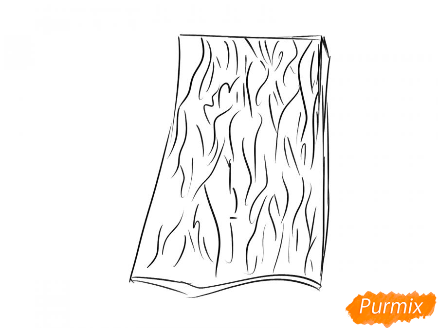 Рисуем кору ивы - шаг 3