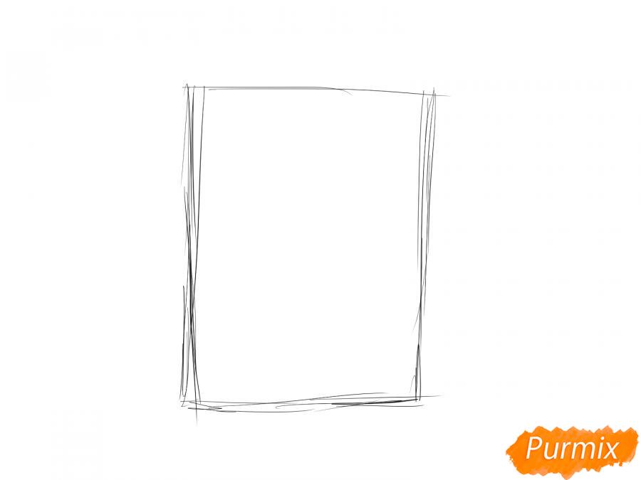 Рисуем кору каштана - шаг 1