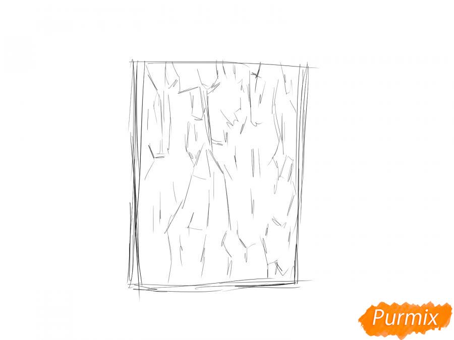 Рисуем кору каштана - шаг 2
