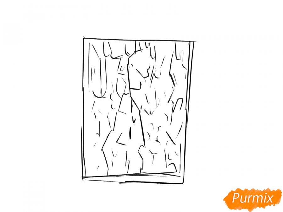 Рисуем кору каштана - шаг 3