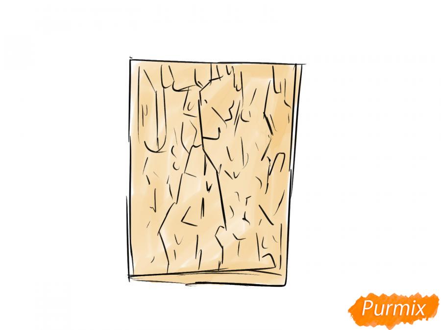 Рисуем кору каштана - шаг 4