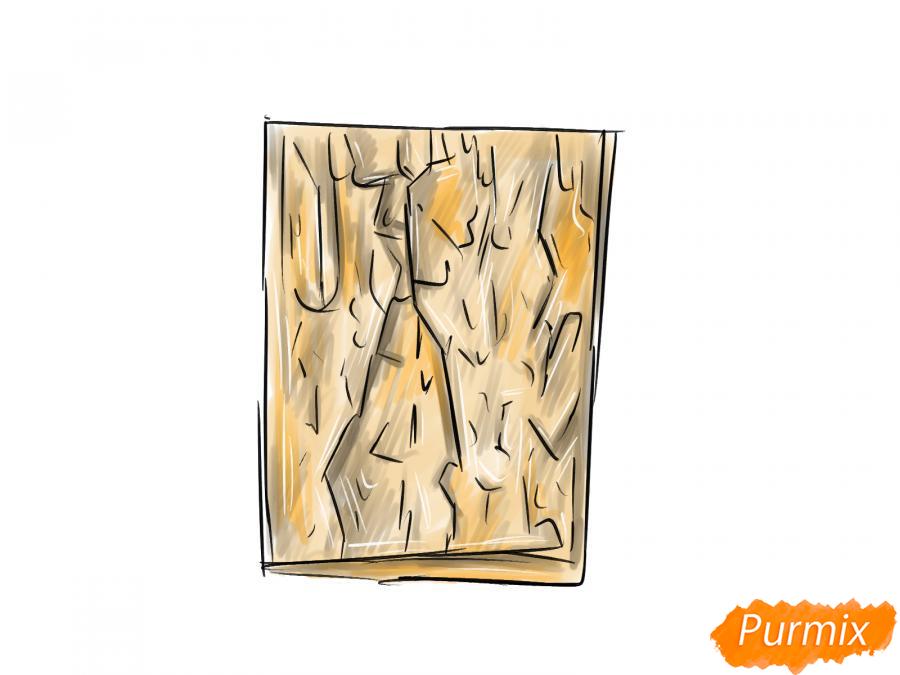Рисуем кору каштана - шаг 5