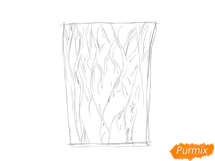 Рисуем кору ореха - шаг 2