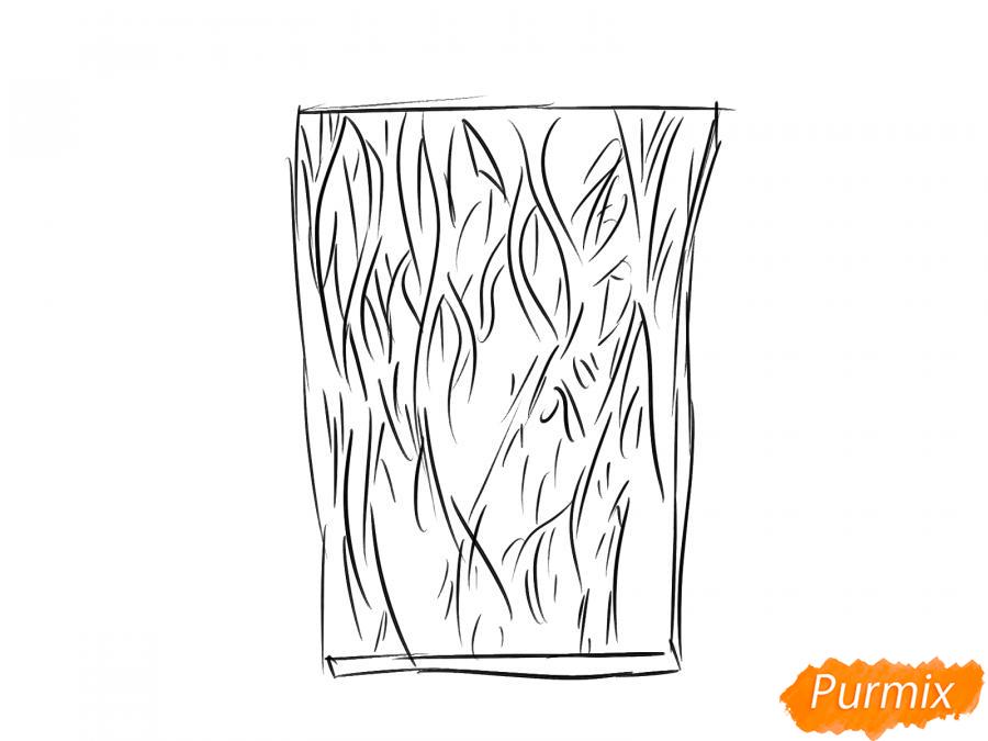 Рисуем кору ореха - шаг 3