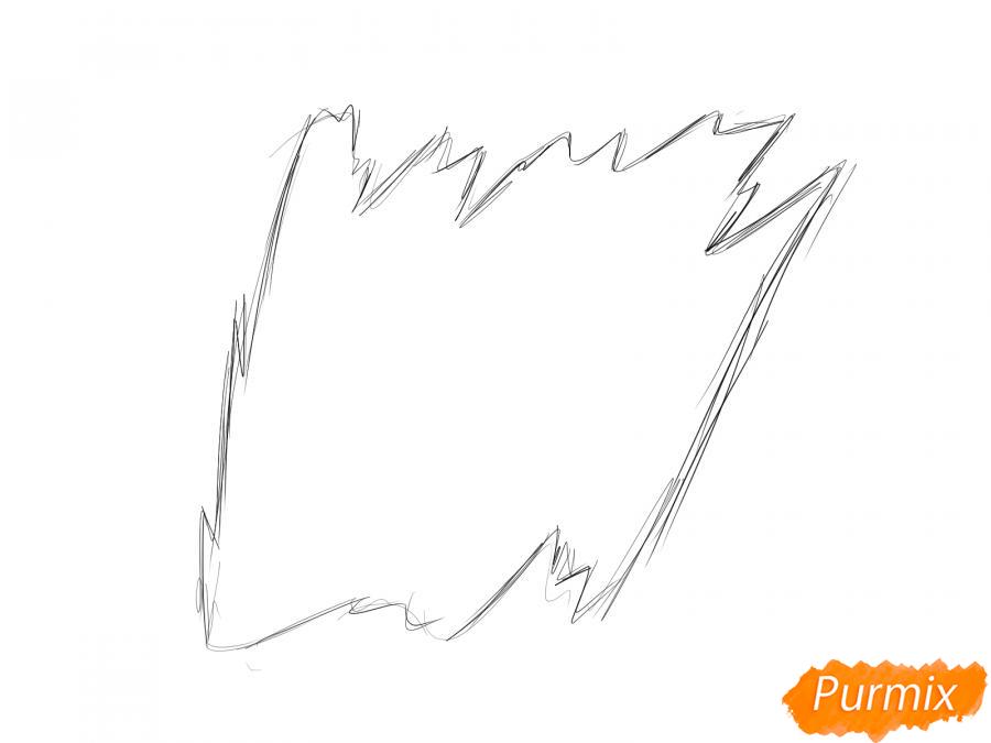 Рисуем кору тополя - шаг 1