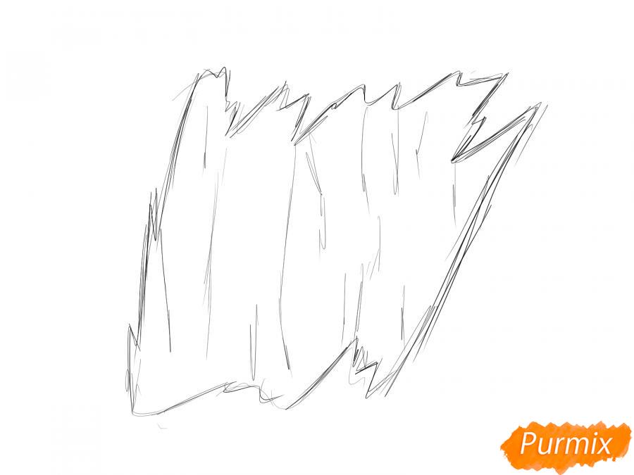 Рисуем кору тополя - шаг 2