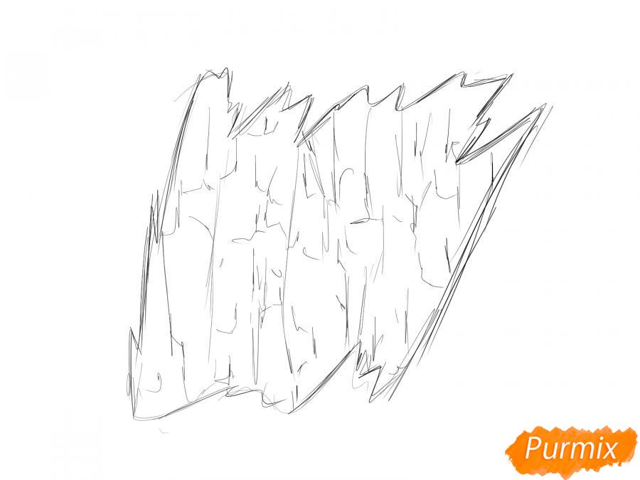 Рисуем кору тополя - шаг 3