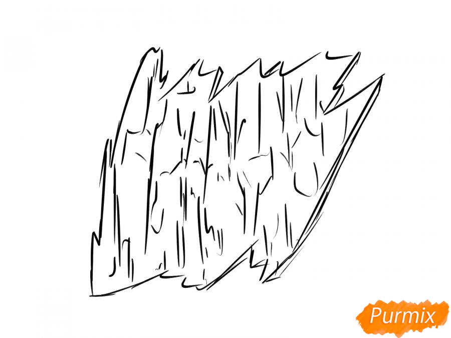 Рисуем кору тополя - шаг 4