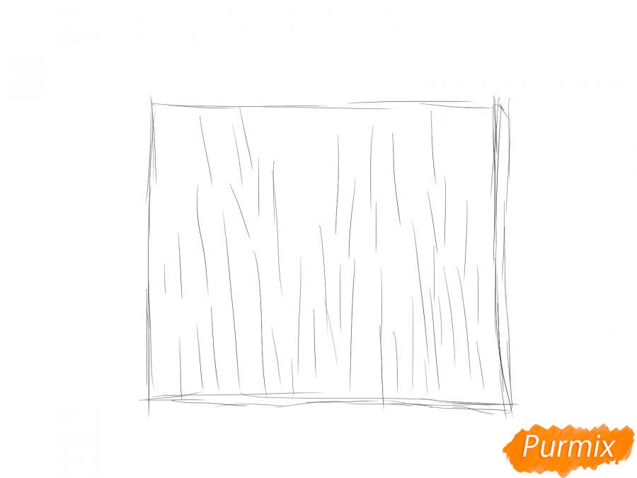 Рисуем кору яблони - шаг 2