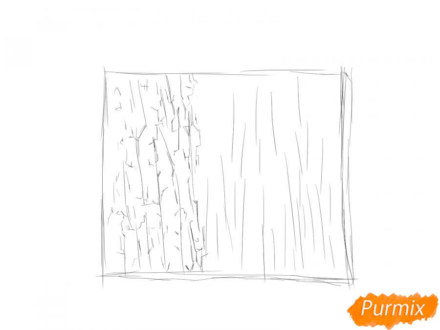 Рисуем кору яблони - шаг 3