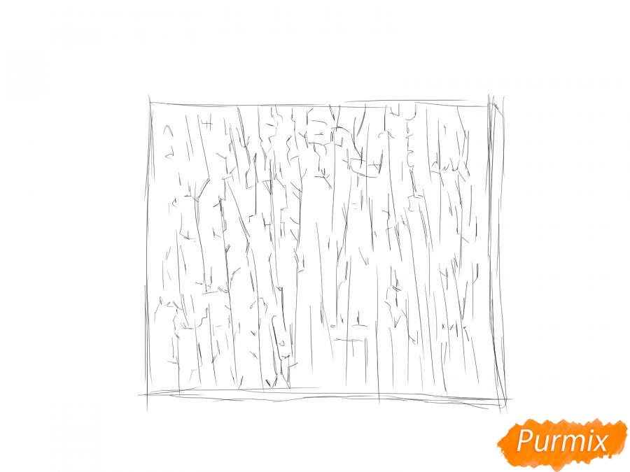 Рисуем кору яблони - шаг 4