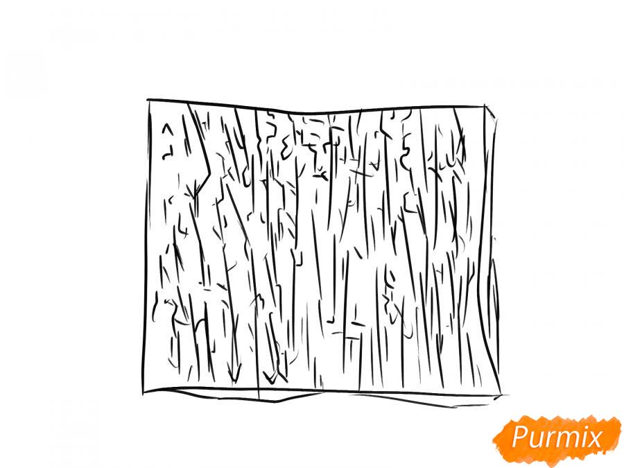 Рисуем кору яблони - шаг 5