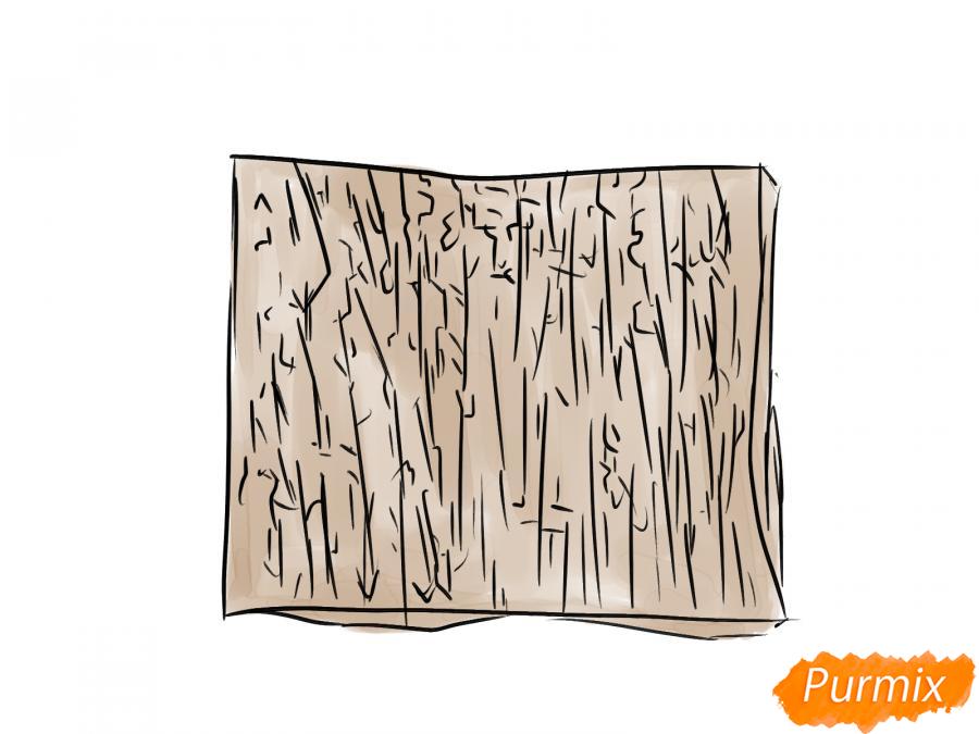 Рисуем кору яблони - шаг 6