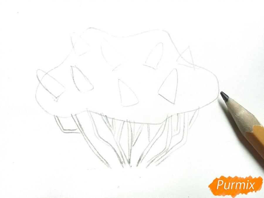 Рисуем куст сирени - шаг 2