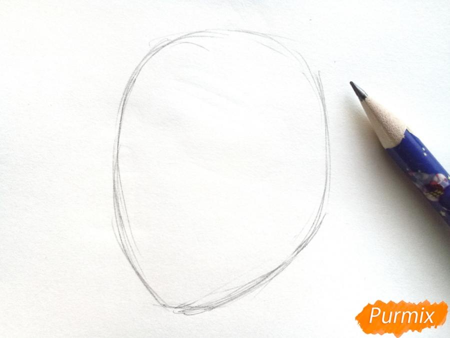 Рисуем лицо девушки зимы - шаг 1
