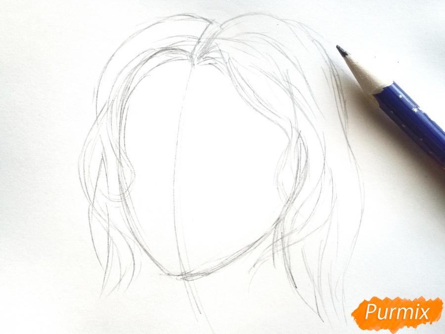 Рисуем лицо девушки зимы - шаг 2