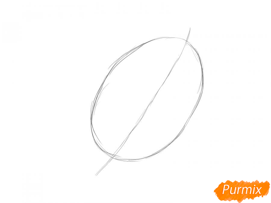 Рисуем лист ореха - шаг 2